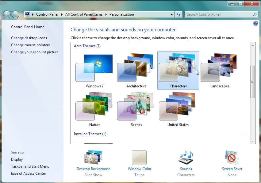Cara Mengganti Tema di Windows 7