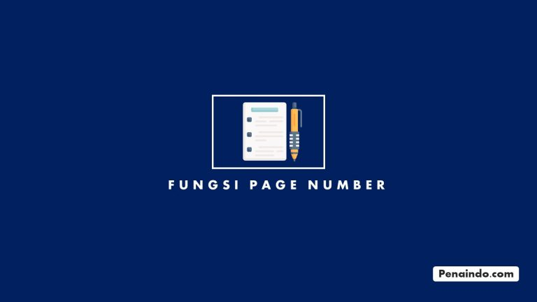 Fungsi Page Number